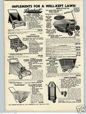 1957 PAPER AD Mow Cycle Lawn Mower 3 Wheel Trams 3 HP Chain Saw