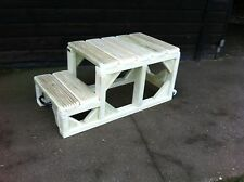 """Mounting Block Steps 16"""" High EXTRA LARGE TOP STEP Movable Heavy Duty Horse"""