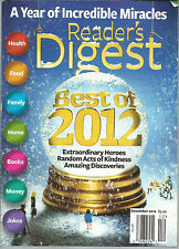 Reader's Digest December 2012 Incredible Miracles/Amazing Discveries
