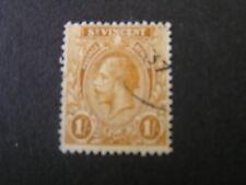 *ST VINCENT, SCOTT # 128, 1/-  VALUE 1927 KGV OCHER ISSUE USED