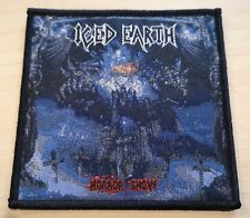 ICED EARTH HORROR SHOW Woven Patch Black 9 x 9cm NEW / Judas Priest Iron Maiden