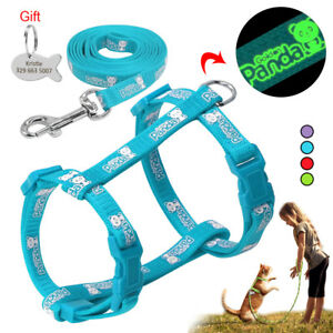 Safety Pet Cat Walking Harness Collar Vest Leash set with Free Personalized Tag