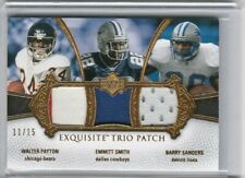 Walter Payton Barry Sanders Emmitt Smith 2007 UD Exquisite Trio Jersey Patch /15