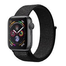Apple Watch Series 4 44mm Aluminiumgehäuse in Space Grau mit Sport Loop in Schwarz (GPS) - (MU6E2FD/A)