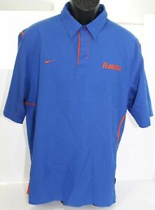 Florida Gators Team Nike NikeFit Polyester Blue & Orange Polo Shirt Mens Medium