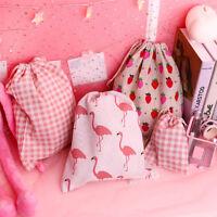 HN- FT- Exquisite Portable Drawstring Flamingo Candy Makeup Storage Bag Gift Pou