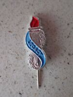 VINTAGE METAL RED BLUE LEGACY TORCH 2/-  PIN  (Bag 2)