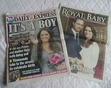 PRINCE WILLIAM & KATE MIDDLETON BIRTH PRINCE GEORGE NEWSPAPER & SUPPLEMENT 2013