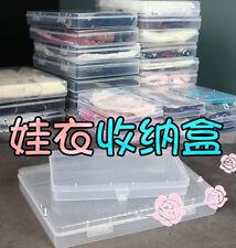 New1/6 1/8 Doll Clothes Storage Box B 17.6 x10 x2.2cm Plastic Case BJD Accessory