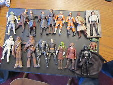 Star Wars lot of 33 figures POTF2 EP1 EP2 Clone Wars Saga more Luke Vader Yoda