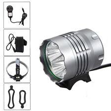 8000Lm 4x CREE XM-L T6 LED Head Bicycle Lamp Bike Light HeadLight Torch Battery