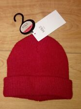 New Marks and Spencers Boys Red Knitted Beanie Hat Age 6/10 Years