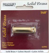 Brainerd 669XC 160°  Wide Angle Door Viewer Solid Brass
