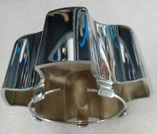 Moto Metal MO954K114 chrome snap-in center cap with blue M and retainer ring
