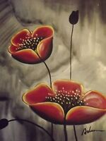 red poppies flowers large oil painting canvas contemporary original floral