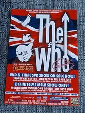 THE WHO - 2004 AUSTRALIA TOUR POSTER SIGNED AUTOGRAPHED  ROGER DALTREY LAMINATED