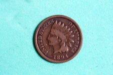 Estate Find 1894 G/Vg Indian Head Cent (Better Date) #M00283