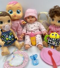Lot of Baby Dolls Baby Alice Cry Baby GiGo Accessories Clothes +