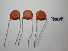 VINTAGE ELECTRONIC CAPACITOR NOS LOT OF 3 CERAMIC DISC 100 M 7.5 KV