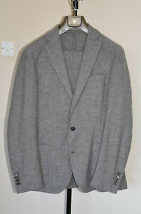 Eleventy Mens single breasted two piece suit wool blend, unlined Size 54 (UK44)