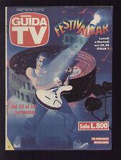 NUOVA GUIDA TV MONDADORI 36/1989 FESTIVALBAR PROGRAMMI TV LOCALI ZONA LAZIO ROMA