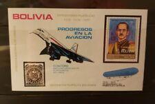 Bolivia 1975 Airmail Suarez and Concorde Souvenir Sheet - MNH - ******RARE******