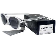 Oakley OO 9265-04 LATCH Matte Clear Frame Black Iridium Lens Mens Sunglasses .