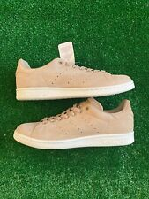 Men's Adidas Stan Smith Premium Linen Khaki Suede Sneakers BB0039 Size 8 US
