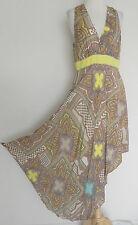 Antonio Melani Summer Dress Rayon Empire Waist Hi-Low Asymmetrical  Size 8 Maxi