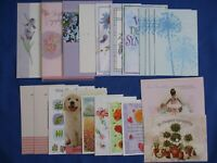 Vintage Greeting Cards Sympathy & Friendship Lot-21 With Envelopes Flowers