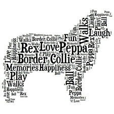 Personalised Border Collie Dog Lovers Word Art Print Great Gift