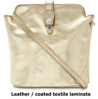 new ladies real italian leather micro evening clutch bag with shoulder strap