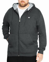 Champion Hoodie Men's Full Zip Fleece Sweatshirt Big & Tall Two-ply Hood Pockets