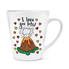 I Lava You Lots 12oz Latte Mug Cup - Funny Valentines Day Love Girlfriend