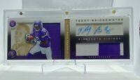 2014 Panini Playbook TEDDY BRIDGEWATER Booklet RPA Auto /99 SP Rookie RC #142