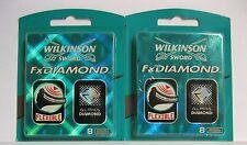 16, 2x8 Wilkinson Fx DIAMOND Rasierklingen Klingen