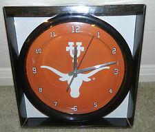 "THE MEMORY COMPANY University of Texas 12"" Burnt Orange, Logo, Wall Clock ~ NIP"