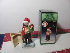 Emmett Kelly Jr. Porcelain Christmas Ornament Holding a Wreath Flambro #9762 Nib