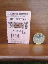 Beatles Concert Ticket Stub Gaumont Theatre Wolverhampton Tues 19th Nov 1963