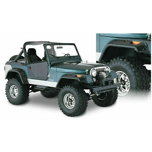 Bushwacker Cut-Out Fender Flares Front And Rear Pair For Jeep CJ5 CJ6