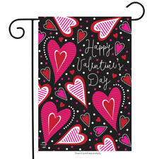 "Dancing Hearts Valentine's Day Garden Flag Primitive 12.5"" x 18"" Briarwood Lane"