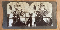 "U.S.S. Olympia ""Gridley, you may fire when ready!"" – Stereoview Slide – 1899"