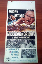 MISSIONE IN ORIENTE locandina poster The Ugly American Marlon Brando Okada AK91