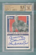 BOBBY HULL 2012/13 CLASSICS SIGNATURES NOTABLE NICKNAMES AUTO BGS 9.5 GEM MINT