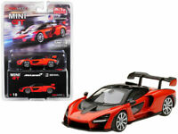 TSM 1:64 MINI GT McLaren Senna Diecast Model Car Mira Orange MGT00018
