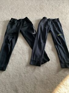 Boys Youth Nike Lot (2) Pants Size L Large Black Joggers