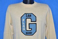 vintage 40s San Barbi Flag G Letterman Wool Pull Over Sweater High Waist Small S