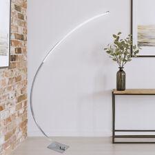 LED Stehleuchte Stehlampe Design Deckenfluter C-Form gebogen Edelstahl ST26