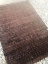 Modern stunning  bright area rug silky carpet new hand made Gabbeh Solid 8'x10'