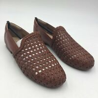Soul Naturalizer Womens Alva Braided Loafer Shoes Brown Leather Slip Ons 7 New